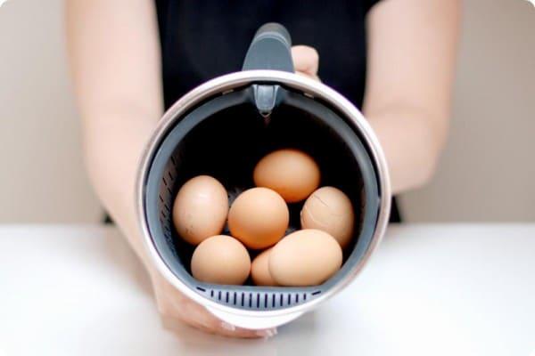 Cómo cocer huevos en Thermomix