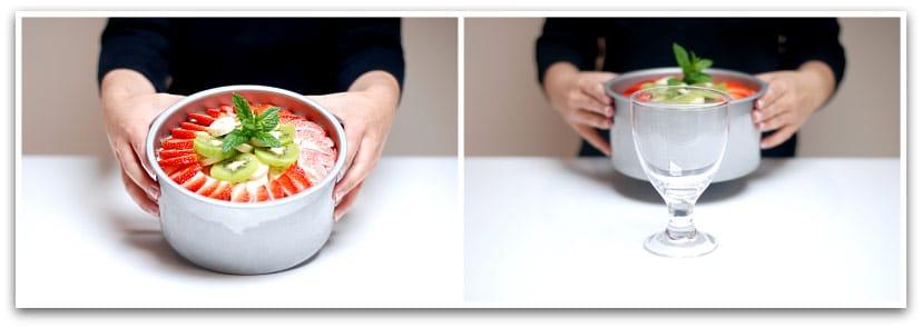 Tarta helada con frutas paso 3