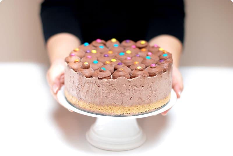Tarta helada de chocolate