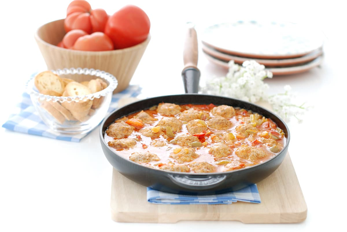 Albóndigas en salsa en el Varoma