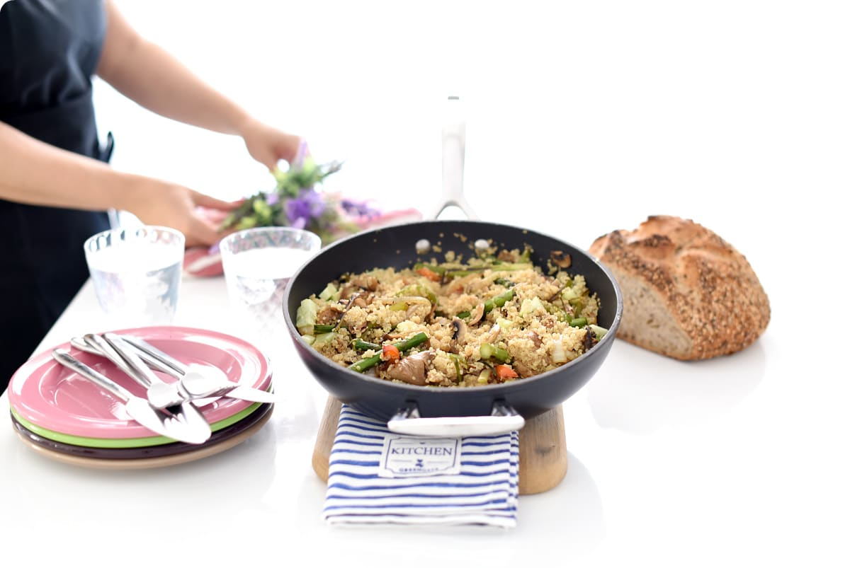 Quinoa con verduras a la parrilla
